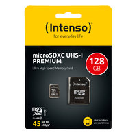 Intenso microSDXC 128 GB Class 10 UHS-I Premium + SD Adapter
