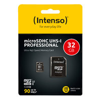 Intenso microSDHC 32 GB Class 10 UHS-I Professional + SD Adapter
